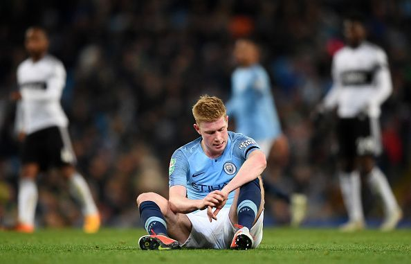 Kevin De Bruyne has been ruled out for over a month