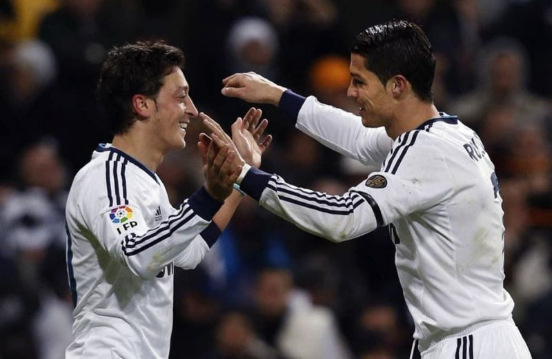 Image result for ozil and ronaldo