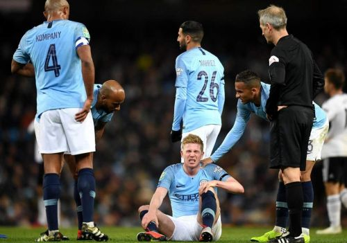 The injury suffered to De Bruyne has hampered his season
