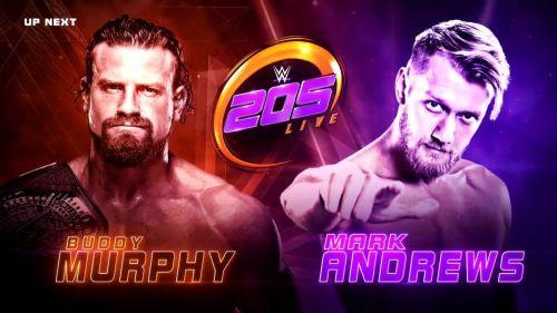 Buddy Murphy's first match since winning the Cruiserweight Title involved NXT UK's Mark Andrews