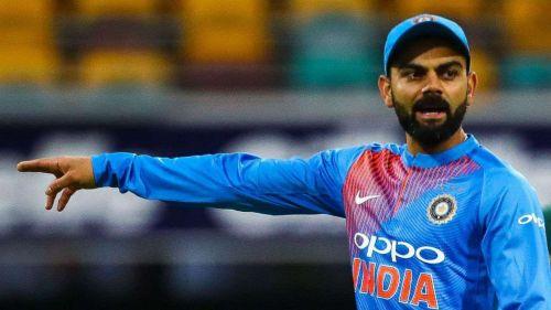 Image result for Aus vs Ind 3rd T20I win Kohli celebration