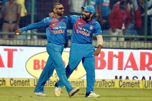 Image result for rohit and shikhar t20is