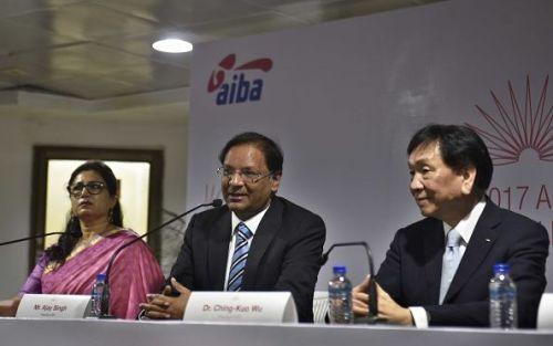 Ajay Singh (centre)
