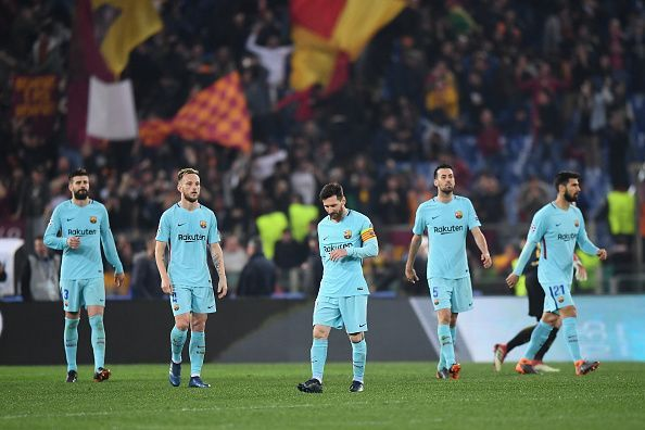 Barcelona squandered a three-goal lead at Rome