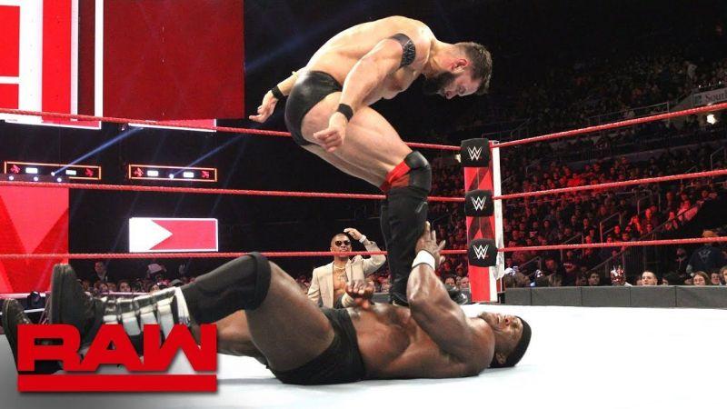 Finn Balor takes on Bobby Lashley on a re