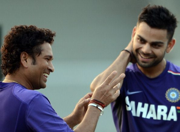 Virat Kohli has always regarded Sachin as his idol, and he is on a path to break his records.