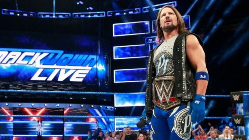 Styles as WWE Champion on SmackDown Live.