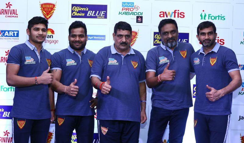 (From Left) Naveen Kumar, Vishal Mane, Krishan Kumar Hooda, Sumeet Yadav and Joginder Narwal