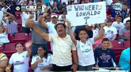 Real Madrid fan's wrong attitude