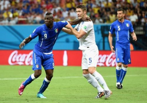 Balotelli is always up for a physical confrontation