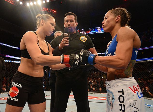 Ronda Rousey prepares to battle Liz Carmouche in the main event of UFC 157