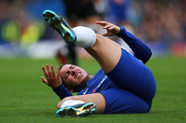 Any injuries to key players like Hazard could come as a blow to Chelsea