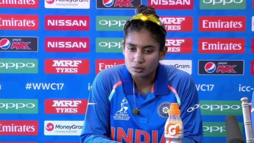 Mithali Raj addressing media after India vs Pakistan match