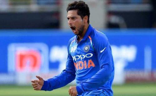 Kuldeep Yadav was once again among the wickets