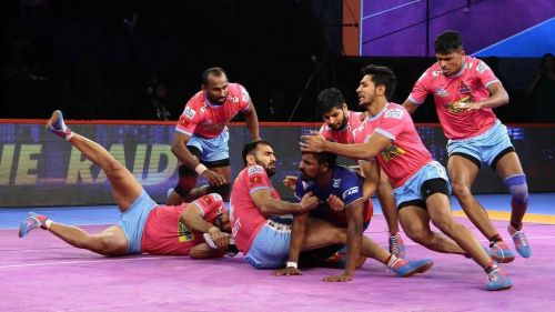 Jaipur Pink Panthers' defence was in good form tonight