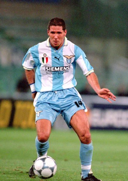 Diego Simeone while he played for Lazio