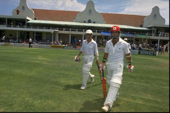 Andy Flower and Kevin Arnott of Zimbabwe