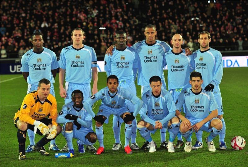 The Manchester City squad in 2008