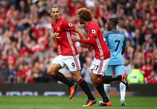 Fellaini and Zlatan are two tall players in their positions