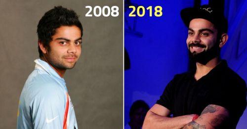 Virat Kohli S Evolution 2008 2018 The Journey In Pictures