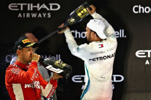 F1 Grand Prix of Abu Dhabi was a fine race for these two legends!