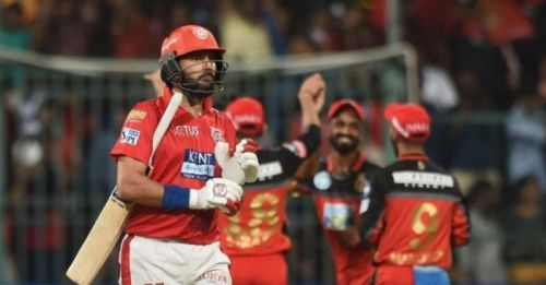 Yuvraj Singh was released by KXIP