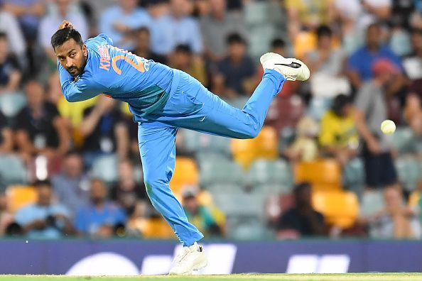 Krunal and Khaleel gave away a combined 97 in 7 overs to spoil the Indian Bowling