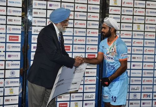India's Simranjeet Singh was named Player of the Match