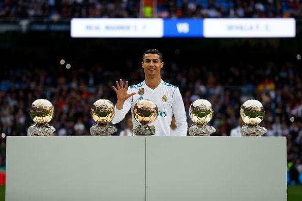 Ronaldo has 5 Ballon d
