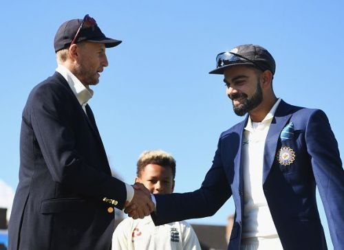 Virat Kohli & Joe Root during Toss