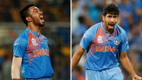 Hardik Pandya and Jasprit Bumrah received their maiden T20I cap against Australia in 2016