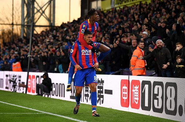 Ruben Loftus-Cheek celebrating a goal with Wilfried Zaha last season. (Picture source: Getty Images)
