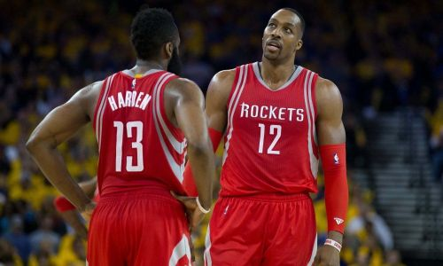 Dwight Howard and James Harden struggled to find common ground