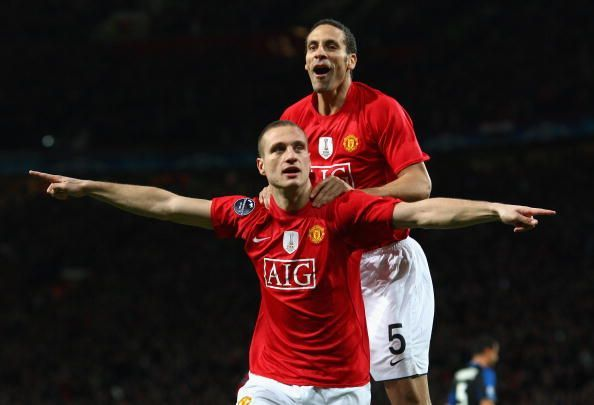 Nemanja Vidic and Rio Ferdinand, both left Manchester United on a free transfer