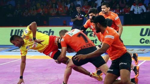 Mahendra Rajput's seven-point raid turned the game on its head