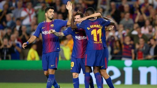 Barcelona sit top of La Liga