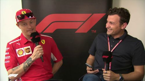 Raikkonen answered questions from a live Q & A