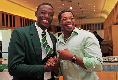 Rabada and Ntini (Image credits: SACricketmag)