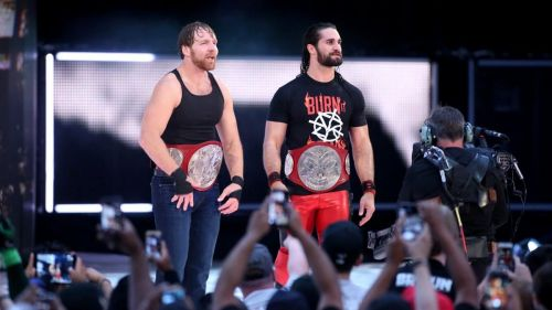 Dean Ambrose and Seth Rollins lost their RAW tag team championships on the UK special episode of RAW in 2017 as well as 2018
