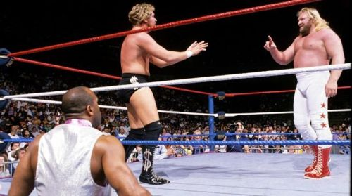Ted DiBiase begs off before his elimination at Royal Rumble 1989