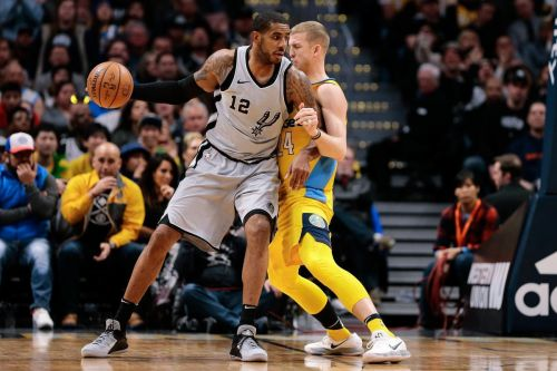 Action from San Antonio Spurs vs Denver Nuggets
