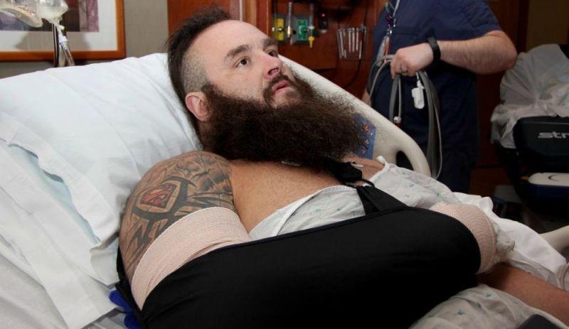 Braun Strowman injured his elbow 2 weeks ago on Raw