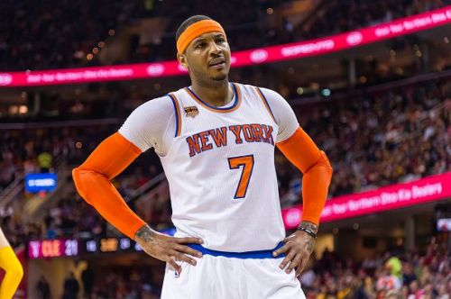 Carmelo Anthony during his stint with the New York Knicks