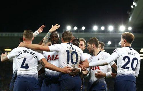 Tottenham Hotspur in action in the Premier League.