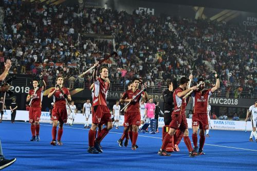 The Belgian defence stood tall (Image Courtesy: FIH Media)