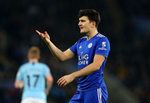 Leicester City's Harry Maguire was linked with a big money move to Manchester United this Summer.