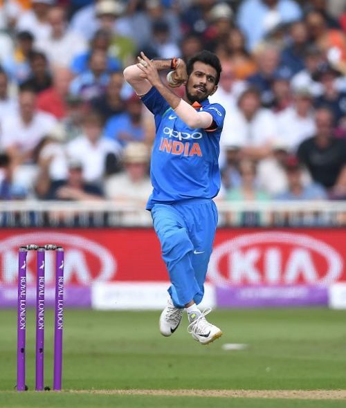 Yuzvendra Chahal in action
