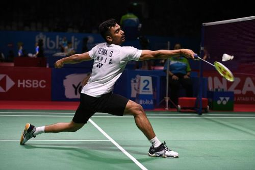 File photo of Sameer Verma in action at the Indonesia Open