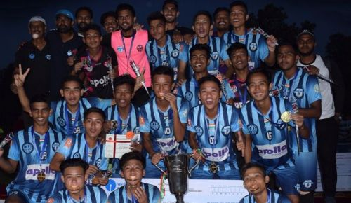 Minerva Punjab's academy team celebrating its Cup victory (Image: Twitter/@MinervaPunjabFC)