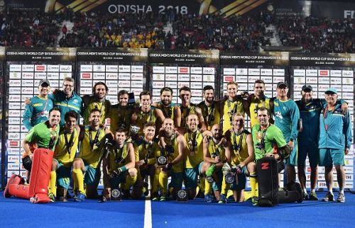 Australia steamrollered England 8-1 to win the bronze medal